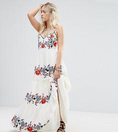Платье макси с цветочной вышивкой Glamorous Petite - Мульти