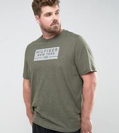 Зеленая меланжевая футболка классического кроя с логотипом Tommy Hilfiger PLUS - Зеленый