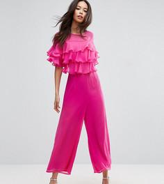 Комбинезон с оборками и широкими штанинами ASOS TALL - Розовый