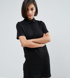 Платье-рубашка ASOS PETITE - Черный
