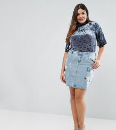Окрашенная джинсовая юбка Alice & You - Синий