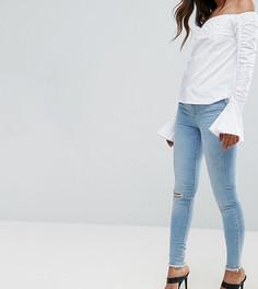 Зауженные джинсы с рваными коленями Vero Moda Tall - Синий