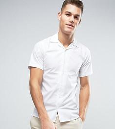 Приталенная рубашка с короткими рукавами и воротником в виде лацканов Only & Sons - Белый