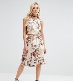 Жаккардовая мини-юбка с цветочным рисунком Miss Selfridge Petite - Золотой