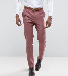 Розовые зауженные строгие брюки из 100% мериносовой шерсти ASOS TALL Wedding - Розовый