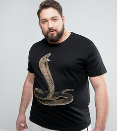 Футболка с принтом змеи D-Struct PLUS - Черный