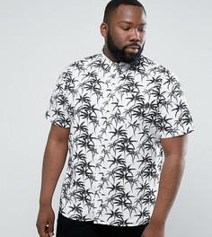 Рубашка с пальмовым принтом D-Struct PLUS Random - Белый
