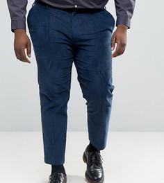 Укороченные строгие брюки скинни из сине-зеленого вельвета ASOS PLUS - Зеленый