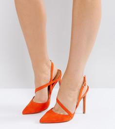Туфли для широкой стопы на каблуке с острым носом ASOS PARTON - Оранжевый