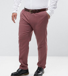 Розовые зауженные строгие брюки из 100% мериносовой шерсти ASOS PLUS Wedding - Розовый