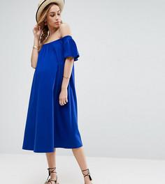 Платье миди с открытыми плечами ASOS Maternity - Синий