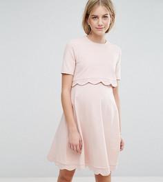Платье для беременных и кормящих мам с короткими рукавами ASOS Maternity - Розовый