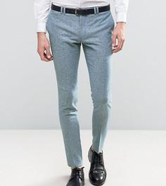 Супероблегающие шерстяные брюки в крапинку Noak - Синий