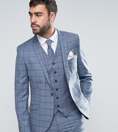 Приталенный пиджак в клетку Heart & Dagger Summer Wedding - Синий