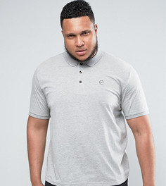 Облегающая футболка-поло Le Breve PLUS - Серый
