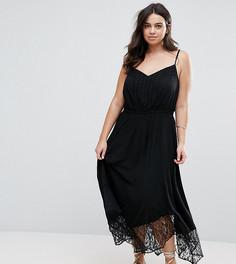 Пляжное платье с кружевной отделкой City Chic - Черный