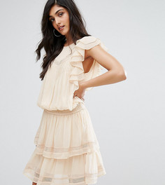 Платье с оборками Y.A.S Tall Hora - Бежевый