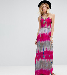 Платье макси на бретельках с принтом тай-дай Glamorous Tall - Мульти