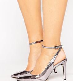 Туфли на каблуке для широкой стопы Faith - Серебряный