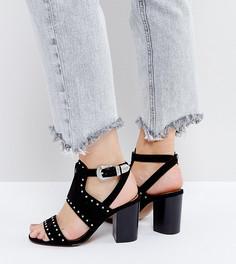 Босоножки в стиле вестерн на каблуке для широкой стопы ASOS TAROT CARD - Черный