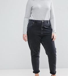 Черные выбеленные джинсы слим в винтажном стиле с завышенной талией ASOS CURVE FARLEIGH - Черный