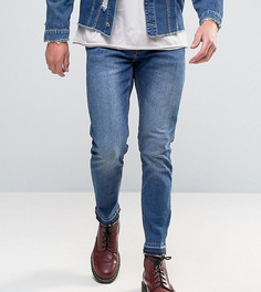 Темные узкие джинсы с необработанной кромкой Mennace - Синий