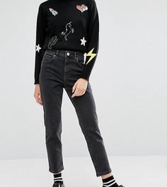 Черные выбеленные джинсы слим в винтажном стиле ASOS PETITE FARLEIGH - Черный