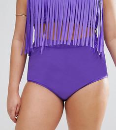 Фиолетовые плавки бикини с завышенной талией Monif C - Фиолетовый