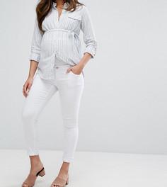 Джинсы скинни для беременных со съемной вставкой для живота Bandia Maternity - Белый