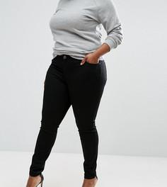 Черные джинсы скинни с классической талией ASOS CURVE LISBON - Черный