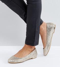 Туфли с золотистой отделкой каблука Call It Spring - Золотой