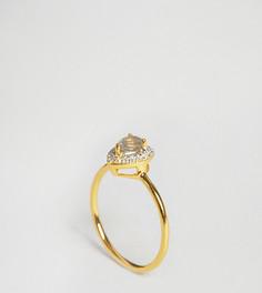 Кольцо с лабрадоритом и бриллиантами Carrie Elizabeth - Золотой