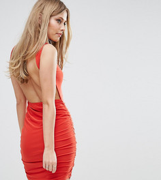 Платье мини с открытой спиной Club L - Красный