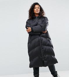 Удлиненная дутая куртка ASOS CURVE - Черный