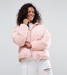 Дутая куртка ASOS CURVE - Розовый