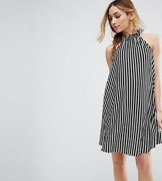 Свободное платье в полоску с завязкой на шее ASOS Maternity - Мульти