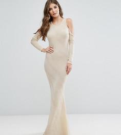 Платье макси с открытыми плечами Club L - Розовый