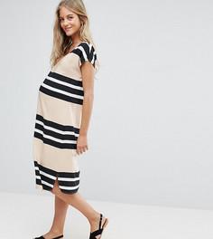 Свободное платье в полоску Mamalicious - Мульти Mama.Licious