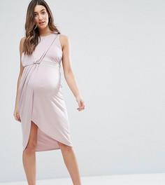 Облегающее платье с отделкой ASOS Maternity - Фиолетовый