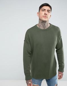 Трикотажный джемпер с заниженной линией плеч Another Influence - Зеленый