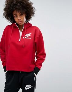 Худи с молнией Nike - Красный