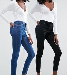 2 джинсов скинни (черные/синие) ASOS RIDLEY - СКИДКА 16 - Мульти