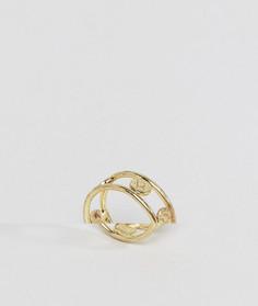 Кольцо с диском ASOS - Золотой