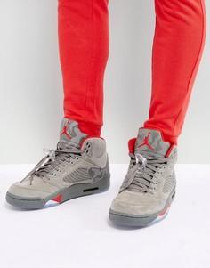 Серые кроссовки в стиле ретро Nike Air Jordan 5 136027-051 - Серый