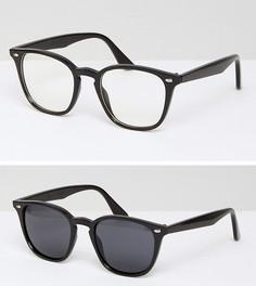 Солнцезащитные очки и очки с прозрачными стеклами ASOS - Черный