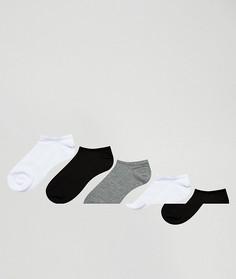 5 пар низких носков ASOS - Мульти