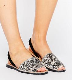 Кожаные сандалии с леопардовым принтом для широкой стопы Park Lane - Мульти