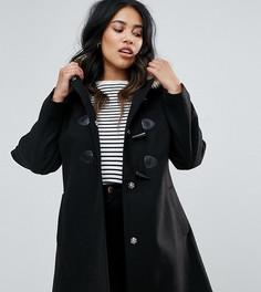 Пальто с искусственным мехом на капюшоне ASOS CURVE - Черный