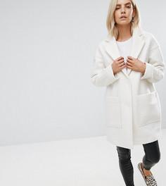 Пальто из ткани ASOS PETITE - Белый