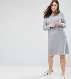 Платье-джемпер ASOS CURVE - Серый